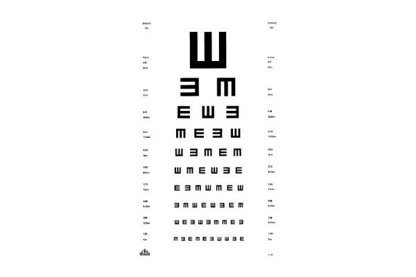 "Oculus ""E-Haken"" Sehprobentafel"