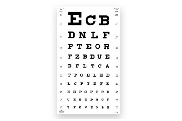 """Oculus """"Buchstaben"""" Sehprobentafel"""