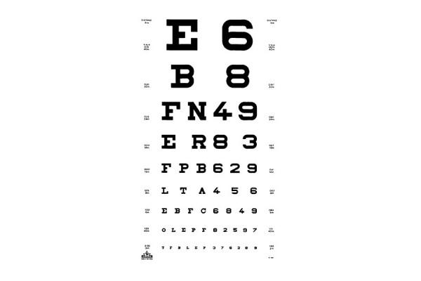 """Oculus """"Zahlen & Buchstaben"""" Sehprobentafel"""