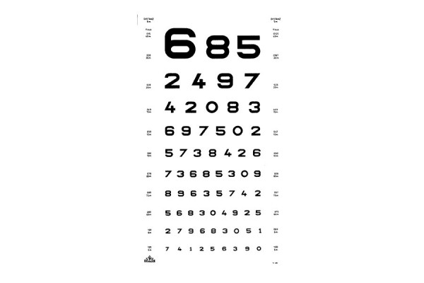 "Oculus ""Zahlen"" Sehprobentafel"